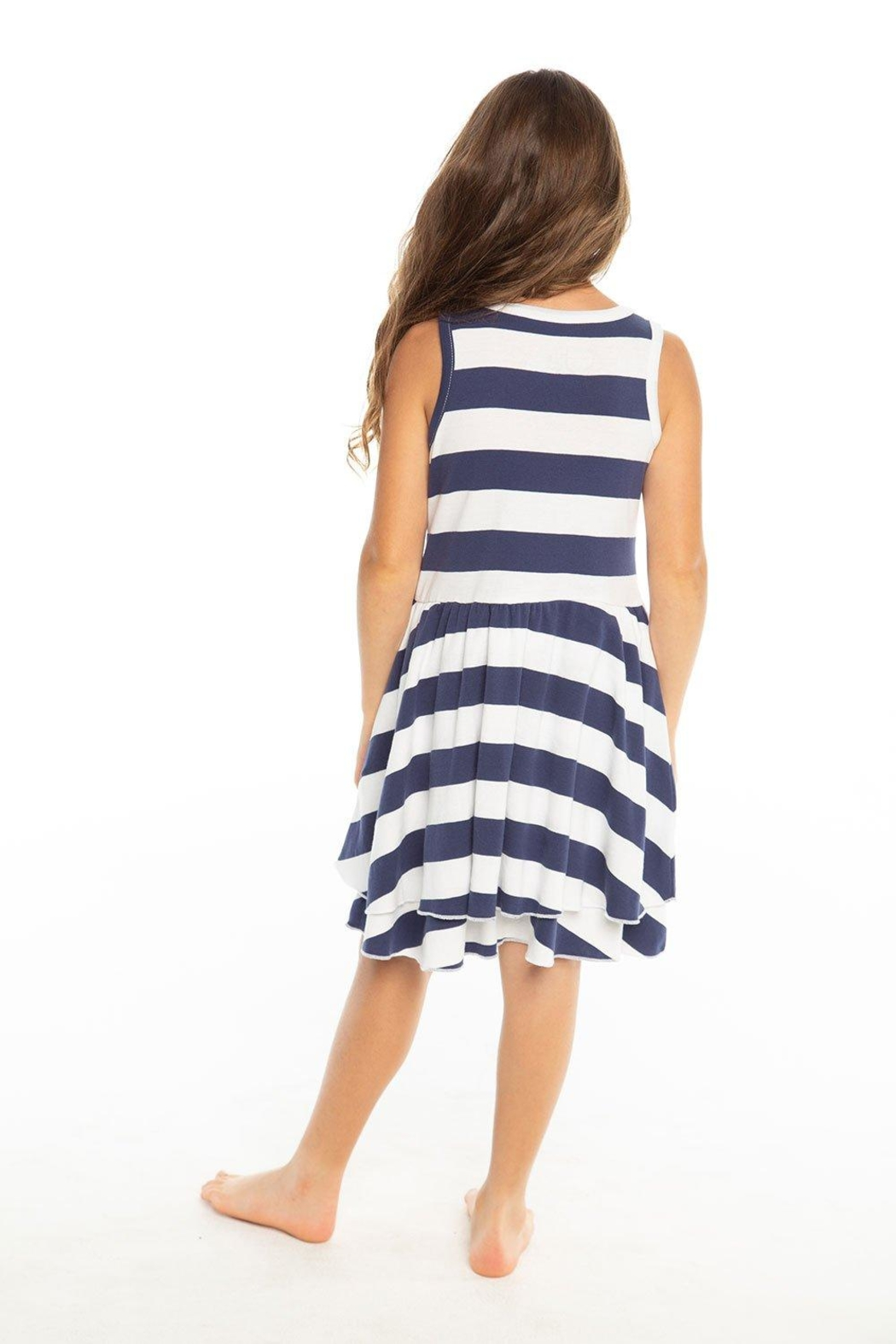 Chaser Striped Tank Dress - Front Full Image