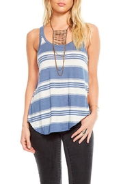 Chaser Striped Tank Top - Front cropped