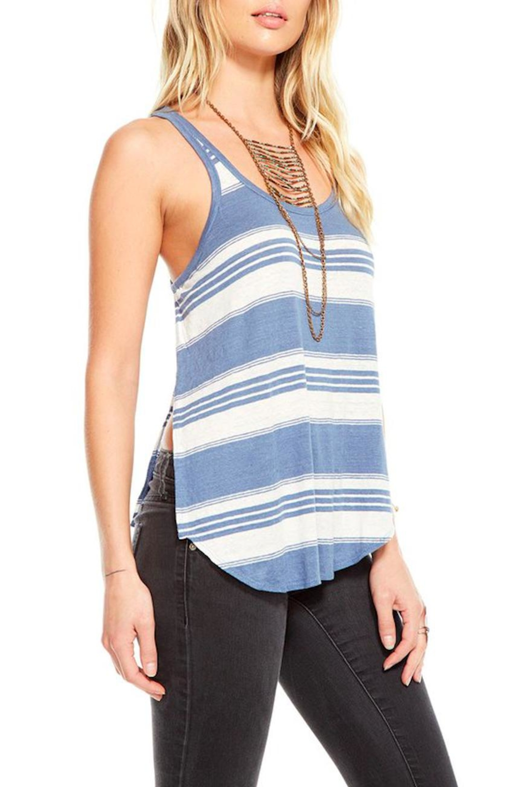 Chaser Striped Tank Top - Side Cropped Image