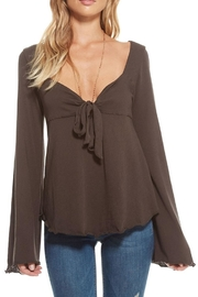 Chaser Sweetheart Tie-Front Top - Product Mini Image