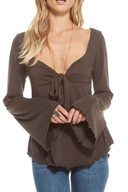 Chaser Sweetheart Tie-Front Top - Front full body