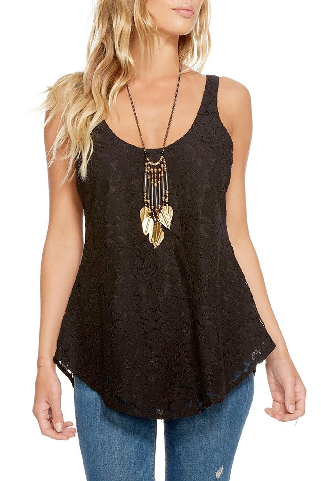 Chaser T-Back Lace Tank - Main Image