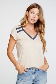 Chaser Tan V-Neck Tee - Product Mini Image