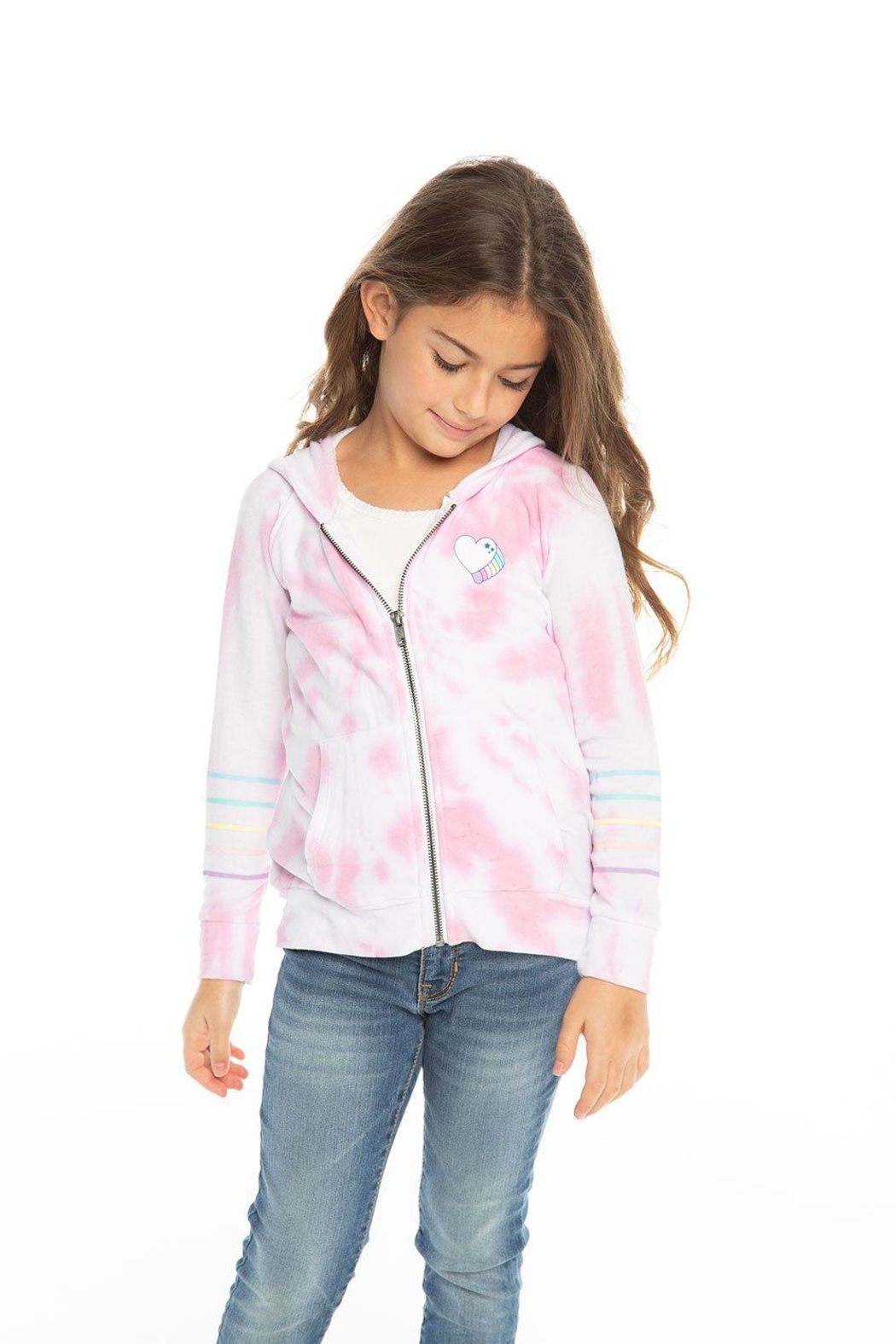Chaser Tie Dye Hoodie - Side Cropped Image