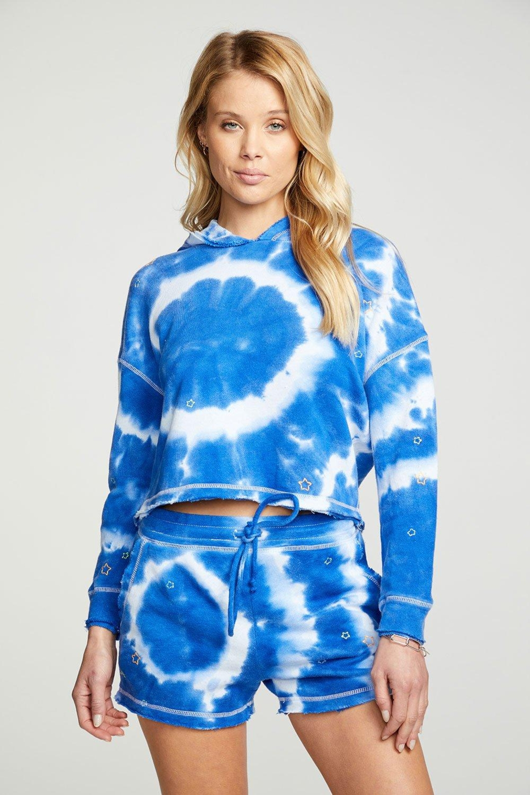 Chaser Tie-Dye Star Shorts - Back Cropped Image