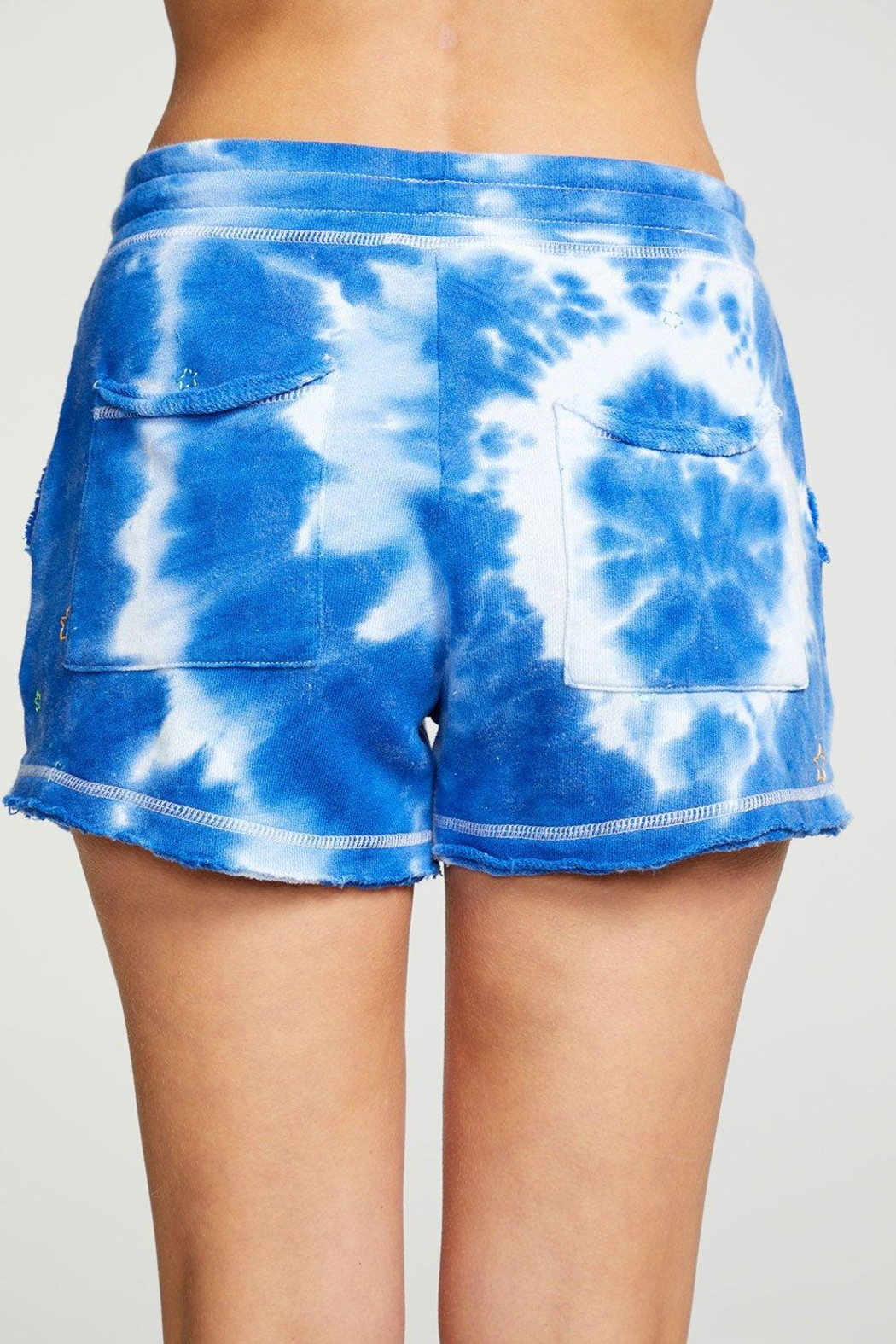 Chaser Tie-Dye Star Shorts - Side Cropped Image