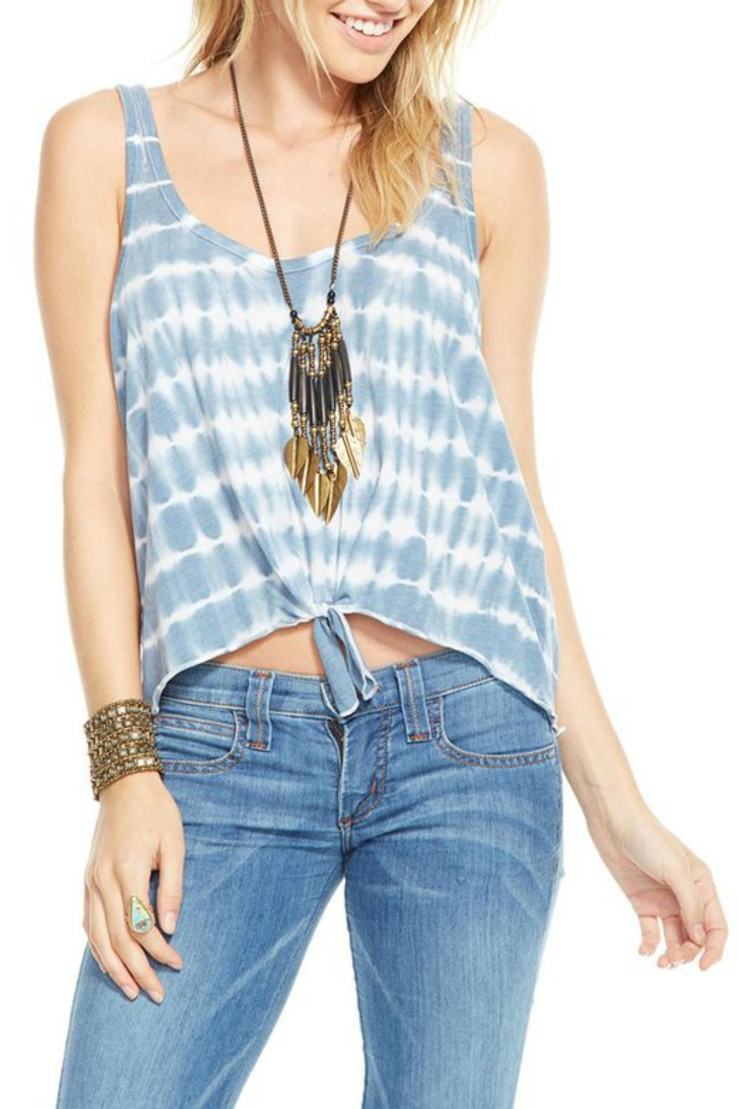 Chaser Tie Dye Tank Top - Front Cropped Image