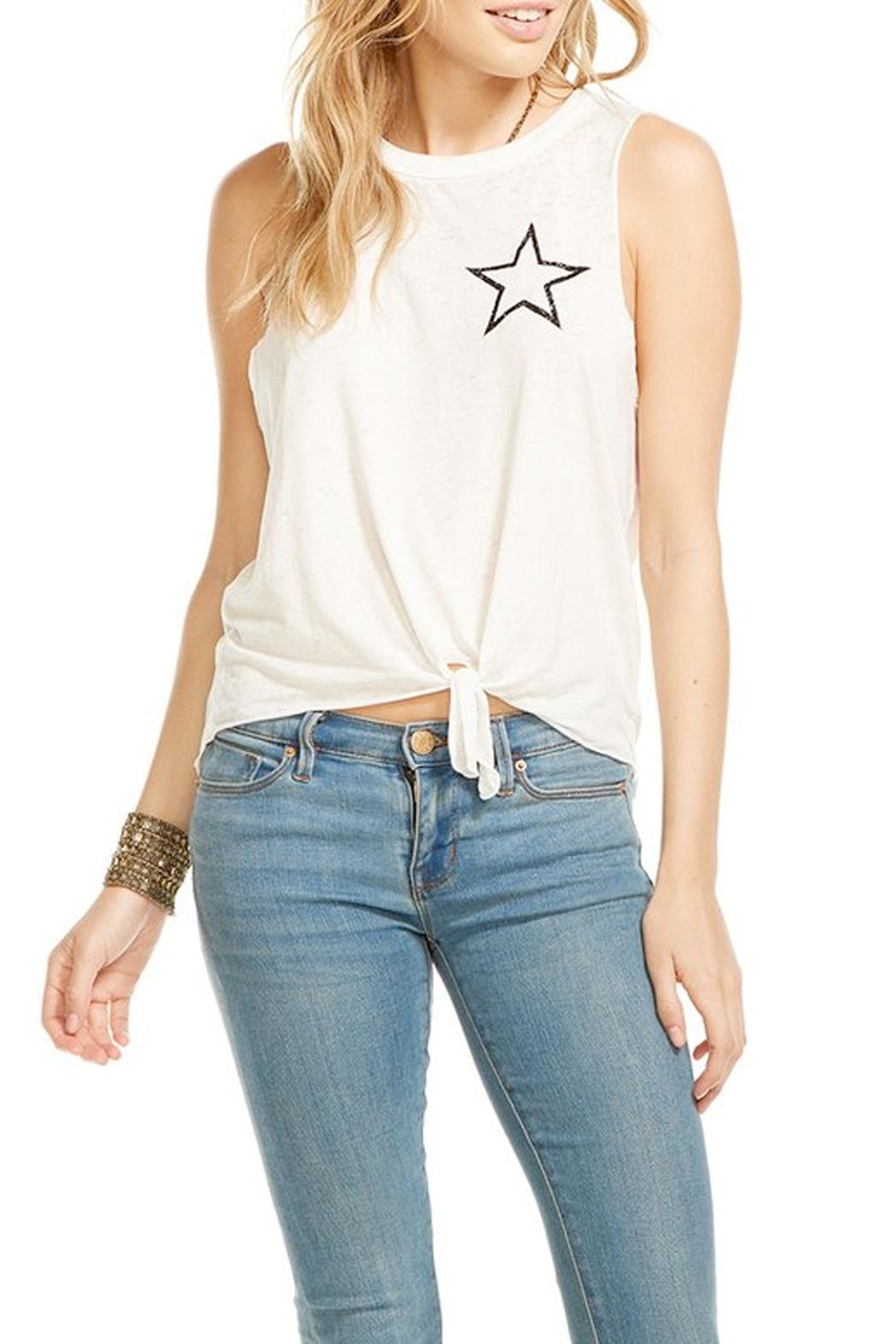 Chaser Tie Front Tank Top - Main Image