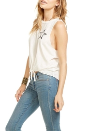 Chaser Tie Front Tank Top - Front full body