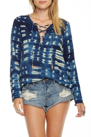 Chaser Tie Dye Lace-Up Tunic - Product Mini Image