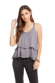 Chaser Tiered Silk Tank - Front cropped