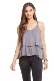 Chaser Tiered Silk Tank - Side cropped