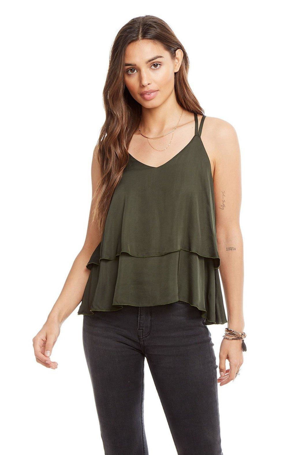 Chaser Tiered Silk Tank - Main Image