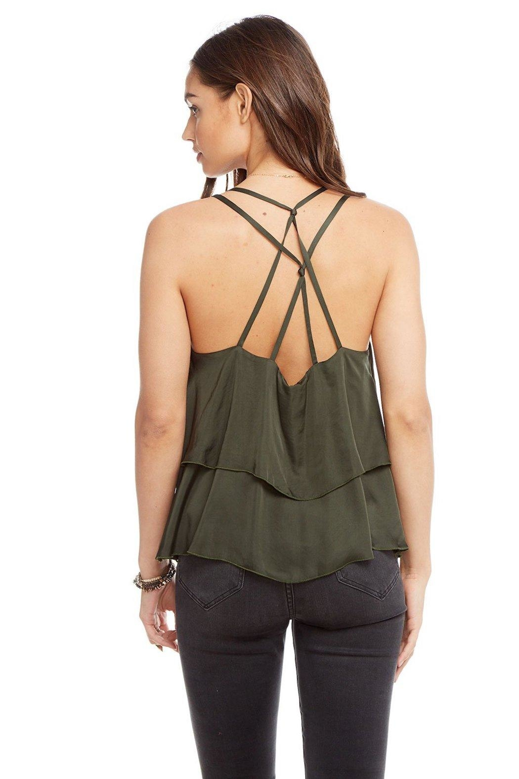 Chaser Tiered Silk Tank - Side Cropped Image
