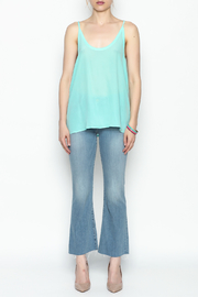 Chaser Turquois Spaghetti Cami - Front full body