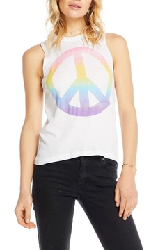 Chaser Watercolor Peace Tank - Alternate List Image