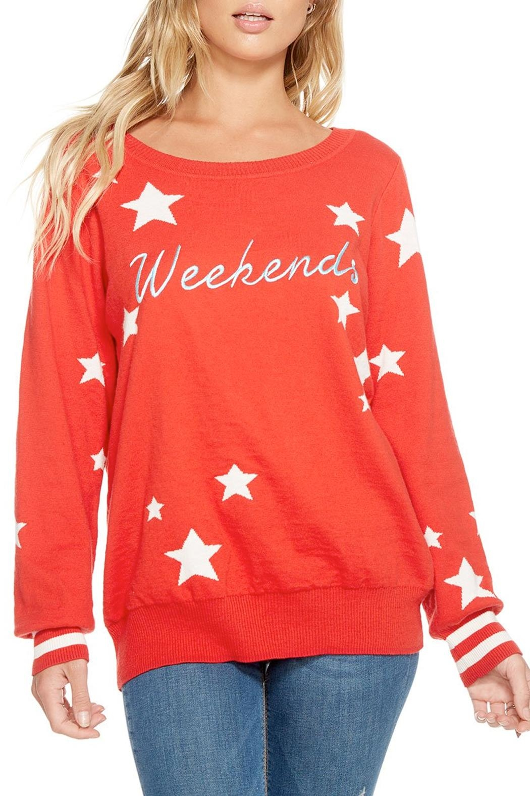 Chaser Weekends Intarsia Sweater - Main Image