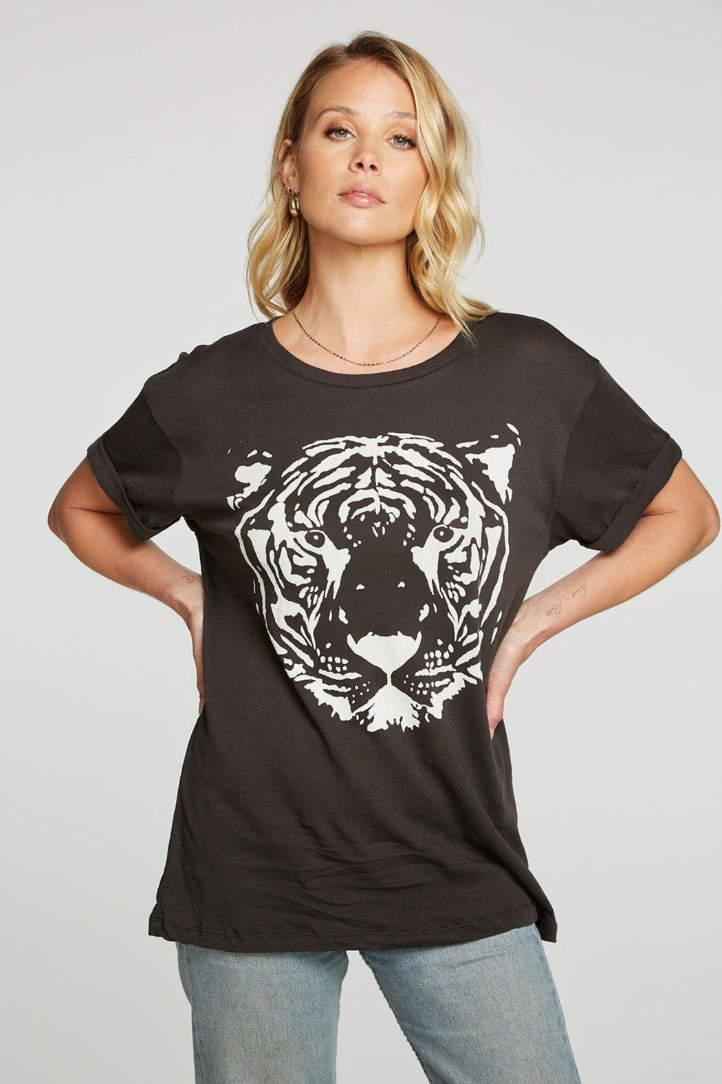 Chaser White Tiger Tee - Front Full Image