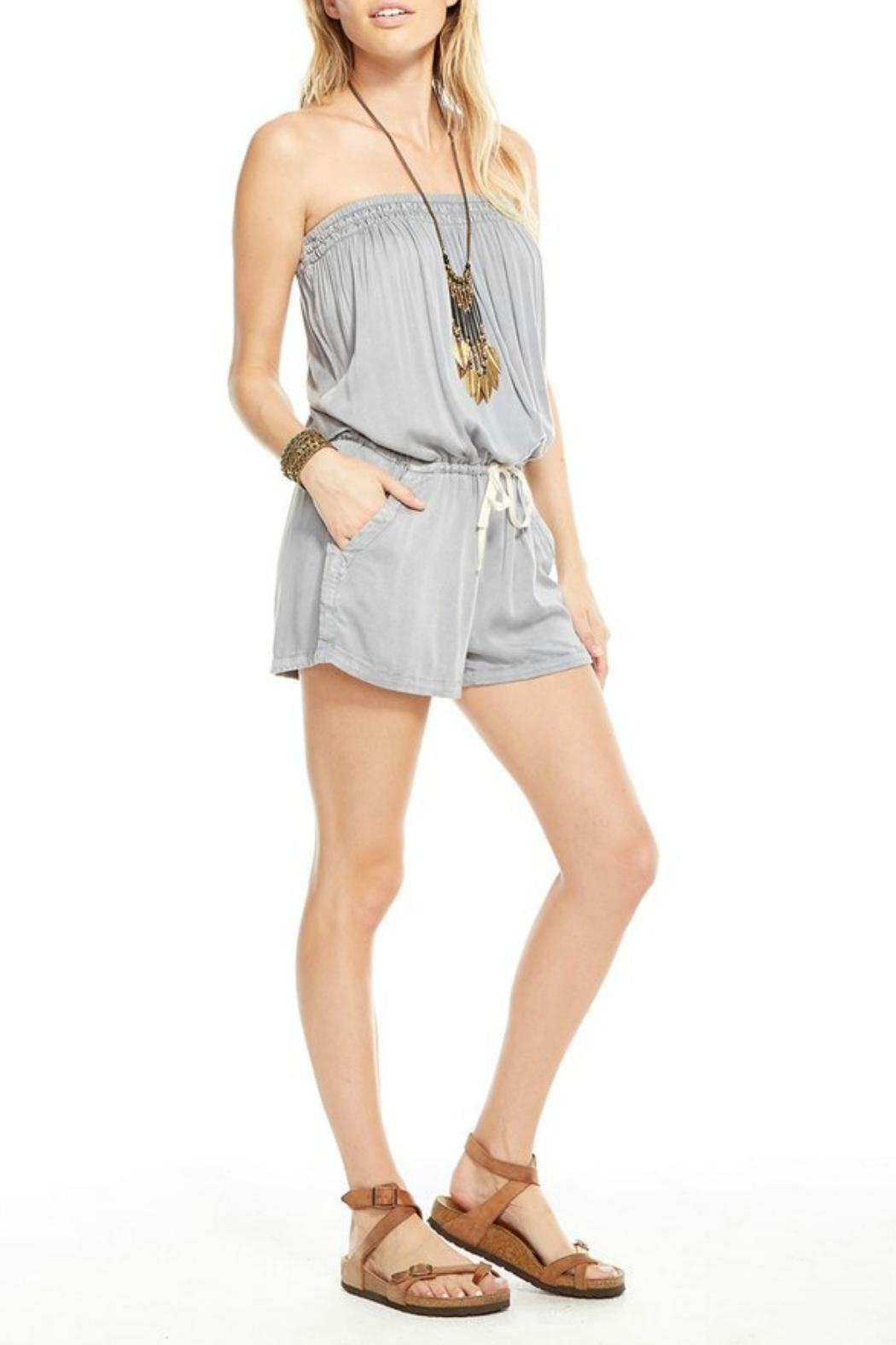 Chaser Woven Shorts Romper - Front Full Image
