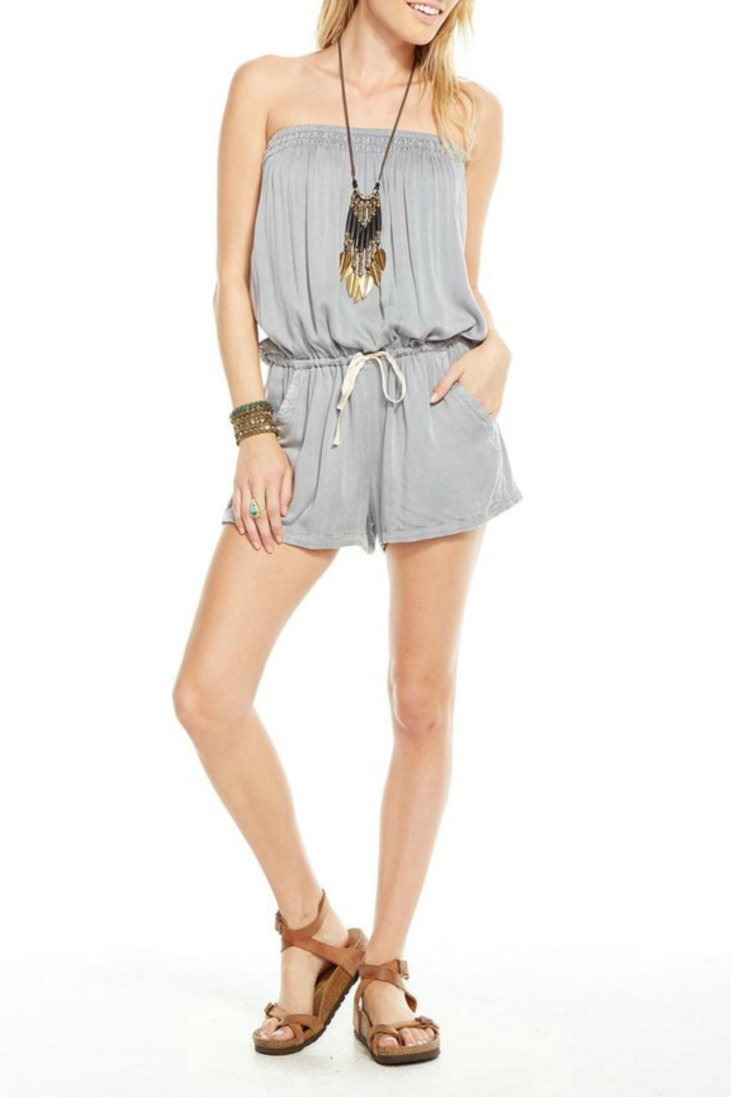 Chaser Woven Shorts Romper - Front Cropped Image