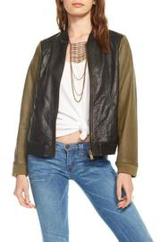 Chaser Blocked Leather Jacket - Product Mini Image