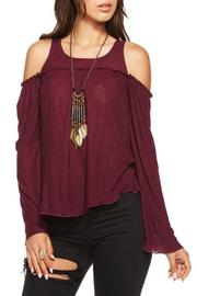 Chaser Cold Shoulder Bohemian Top - Product Mini Image