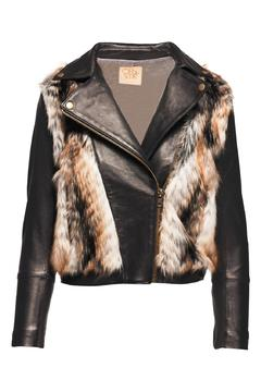 Shoptiques Product: Faux Fur Moto Jacket
