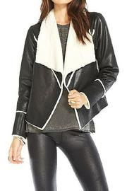 Chaser Faux Suede Fur Jacket - Front cropped