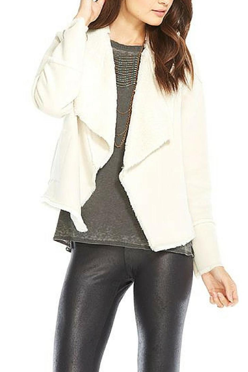 Chaser Faux Suede Fur Jacket - Front Cropped Image