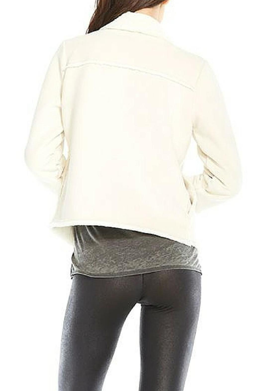 Chaser Faux Suede Fur Jacket - Side Cropped Image
