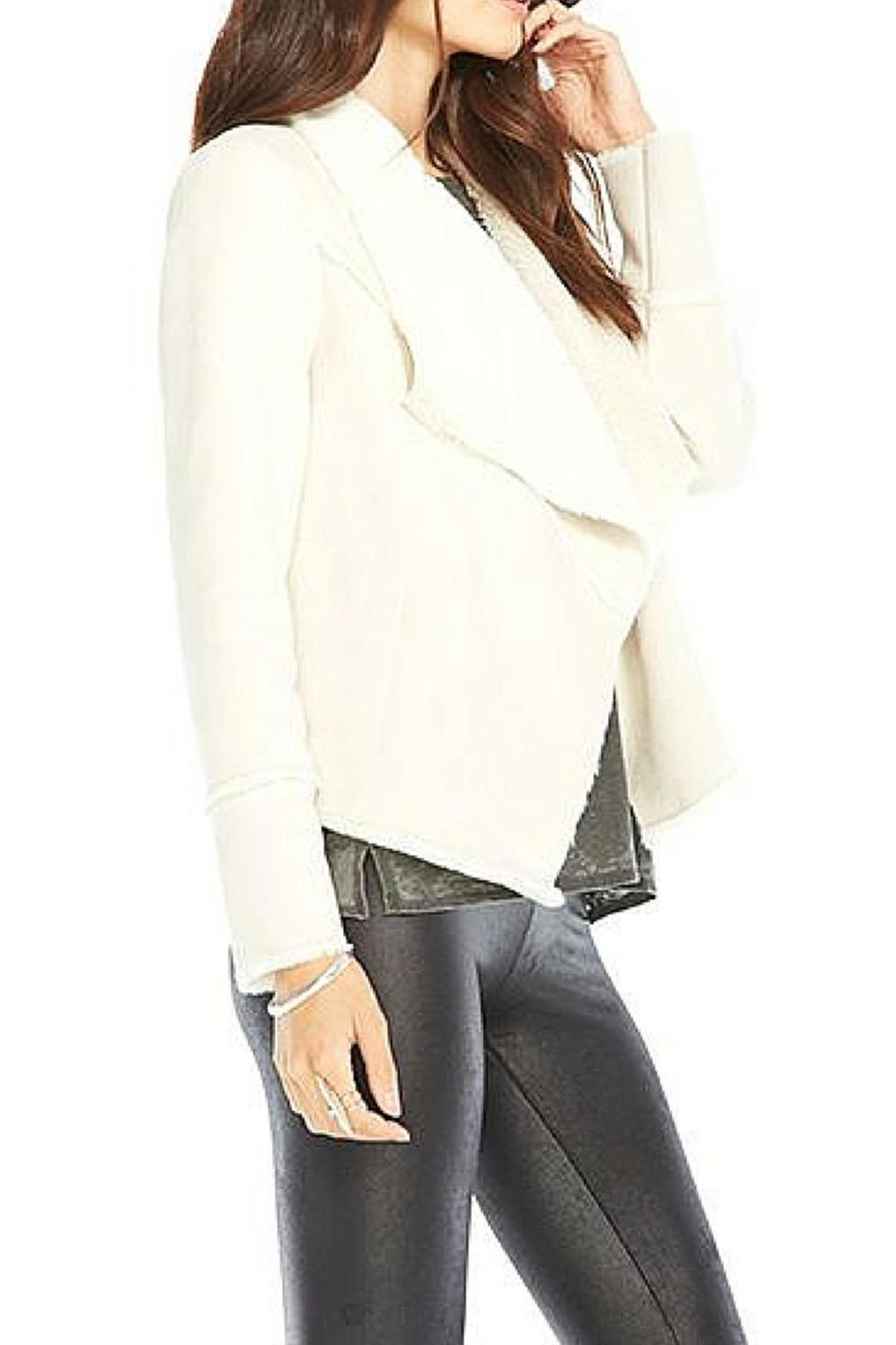 Chaser Faux Suede Fur Jacket - Front Full Image