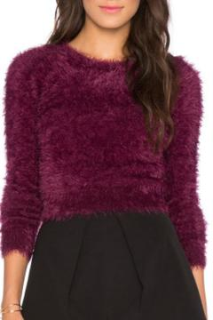Shoptiques Product: Furry Cropped Sweater