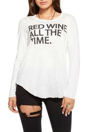 Chaser Red Wine Tee - Front cropped