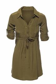 Chaser Silk Shirt Dress - Product Mini Image