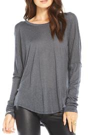 Chaser Textured-Silk Open-Back Top - Product Mini Image