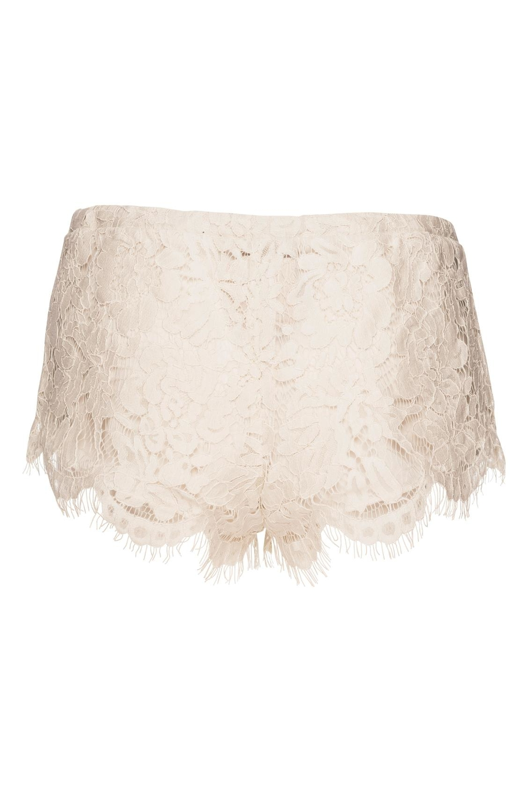Chaser LA Lace Shorts Milk - Side Cropped Image