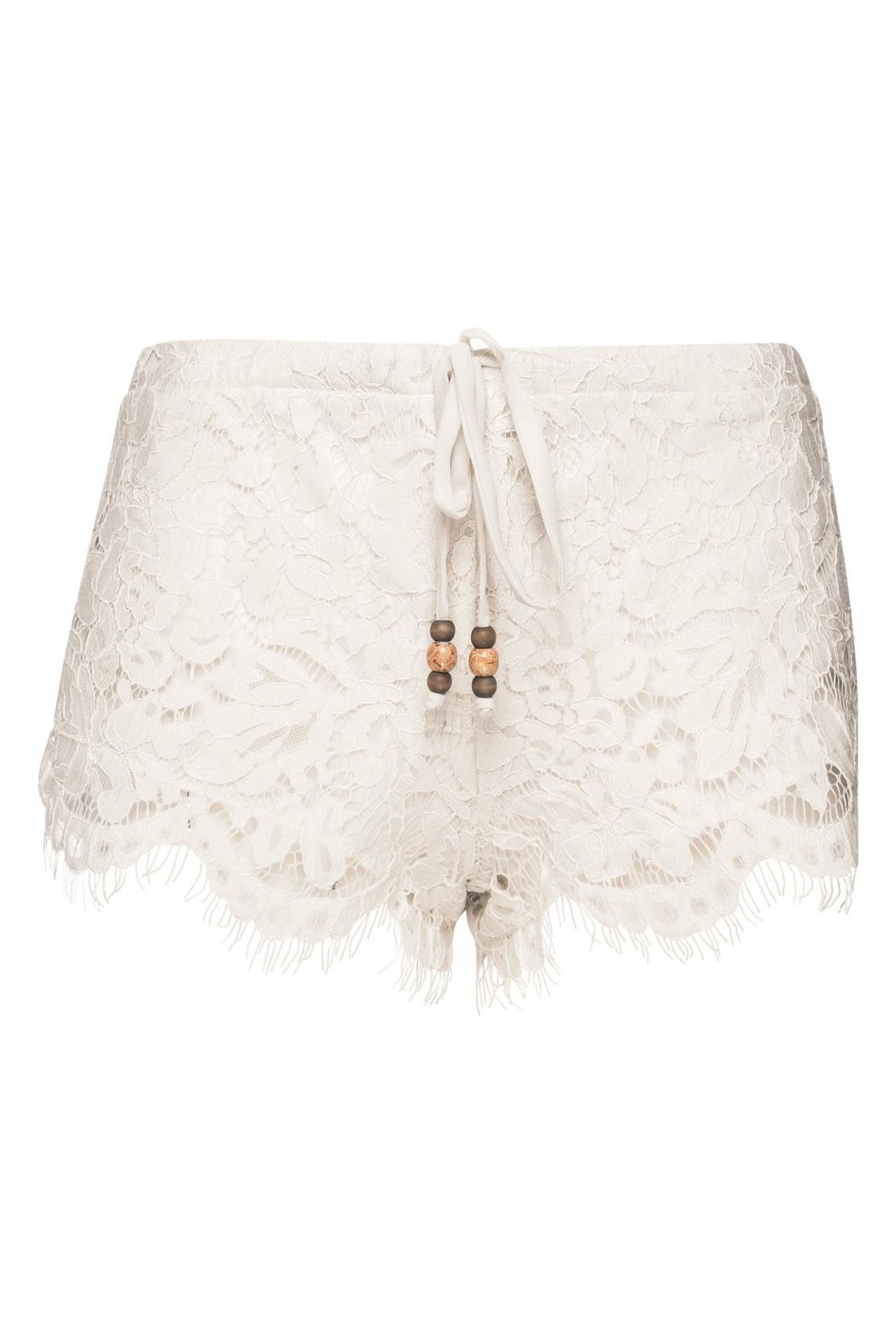 Chaser LA Lace Shorts Milk - Front Full Image