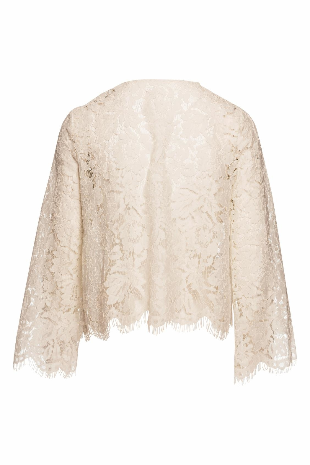 Chaser LA Open Front Lace Cardigan - Front Full Image