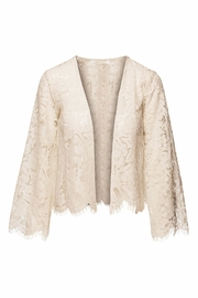 Chaser LA Open Front Lace Cardigan - Front cropped