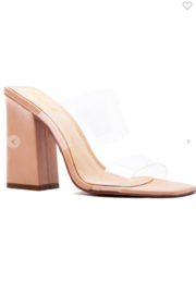 Qupid Chasity Clear Strap Heel - Product Mini Image