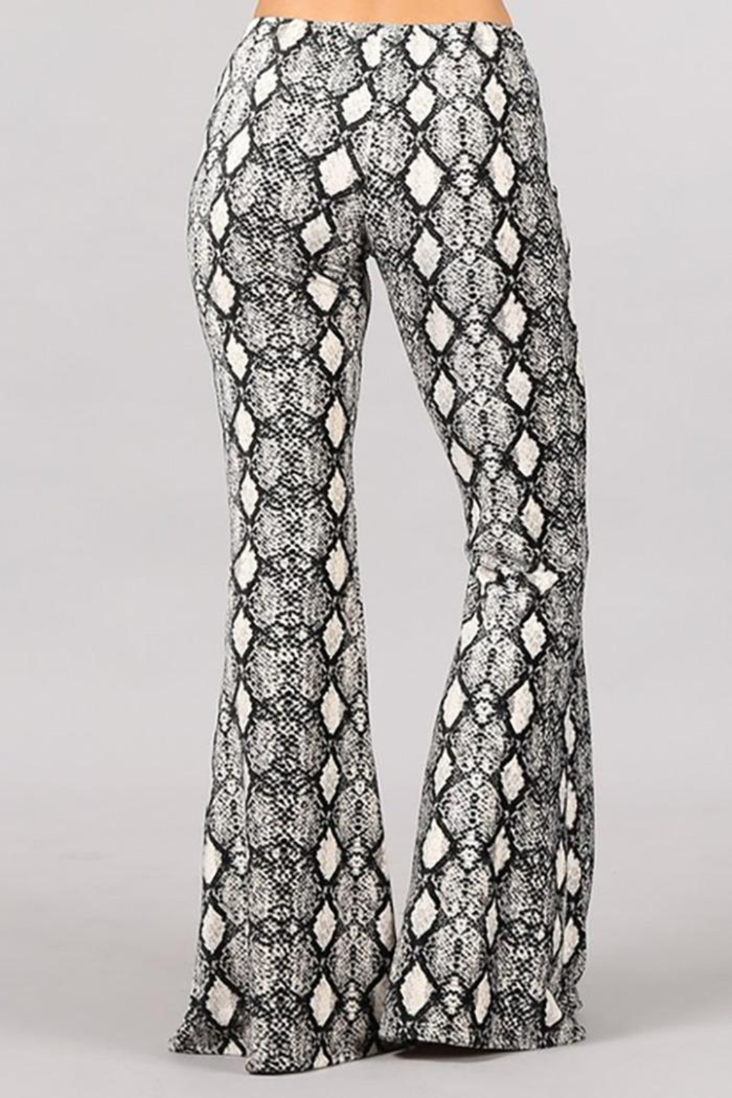 Chatoyant  Animal Print Stretch Bell Bottom Pants - Side Cropped Image