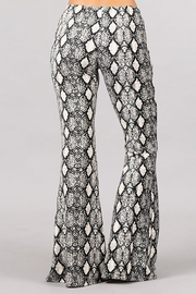 Chatoyant  Animal Print Stretch Bell Bottom Pants - Side cropped