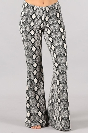 Chatoyant  Animal Print Stretch Bell Bottom Pants - Front cropped