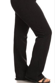 Chatoyant  Bootcut  Mineralwashed Leggings-Plus - Front full body