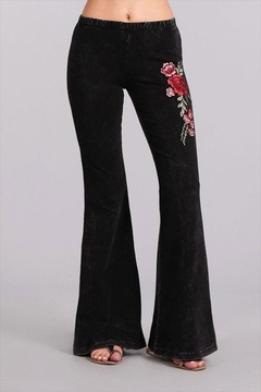 Shoptiques Product: Embroidered Bell Bottoms