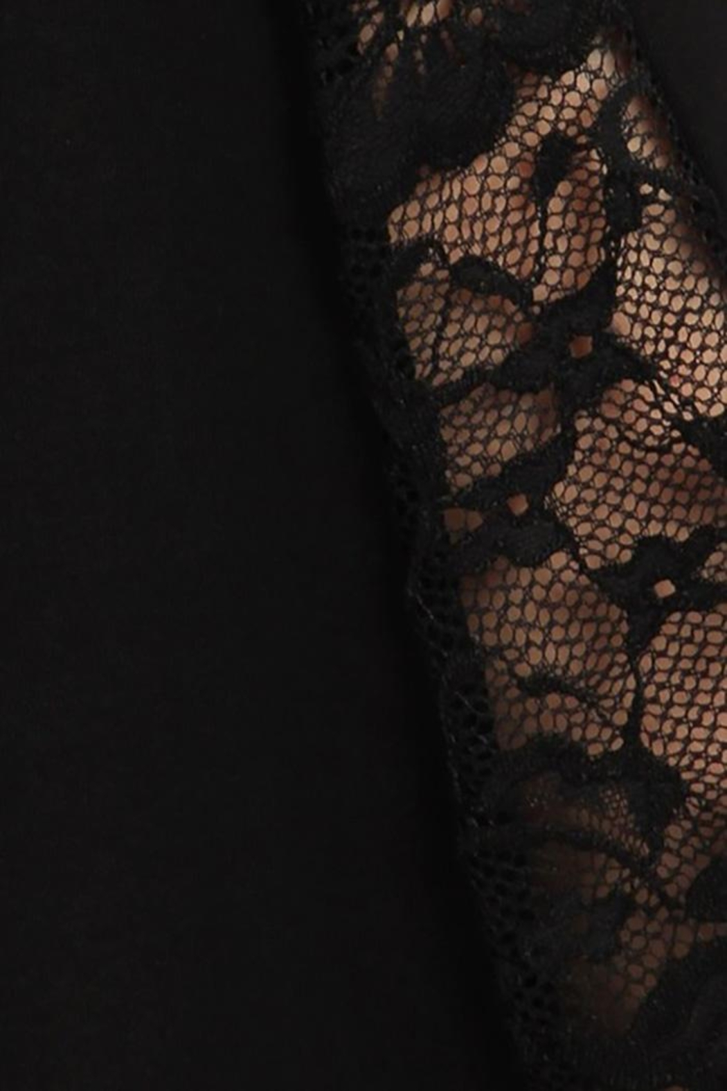 Chatoyant  Flared Bell Pants With Lace Inset - Back Cropped Image