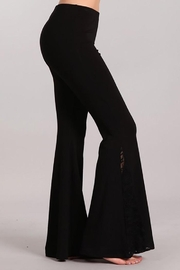 Chatoyant  Flared Bell Pants With Lace Inset - Side cropped