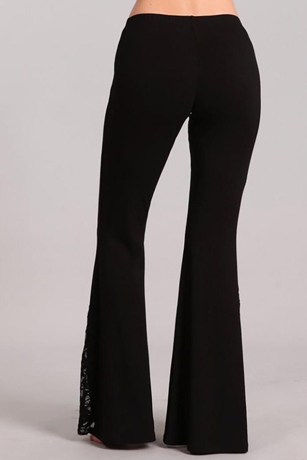 Chatoyant  Flared Bell Pants With Lace Inset - Front Full Image