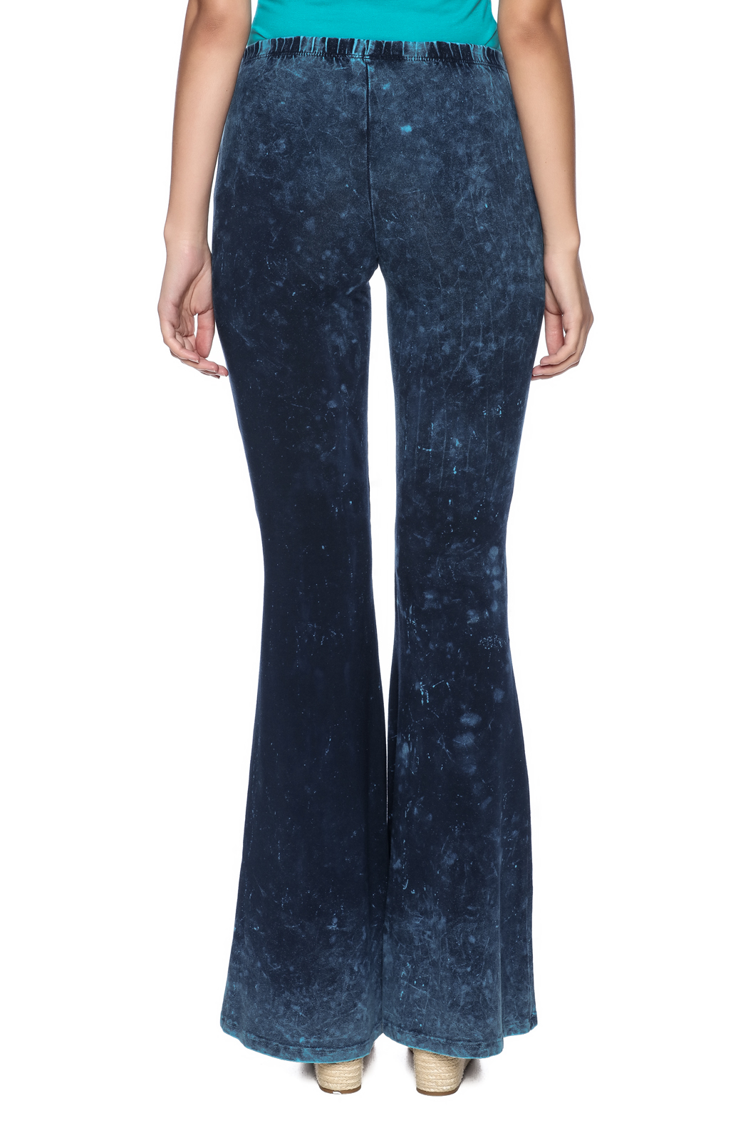 Chatoyant  Galaxy Bell Bottoms - Back Cropped Image