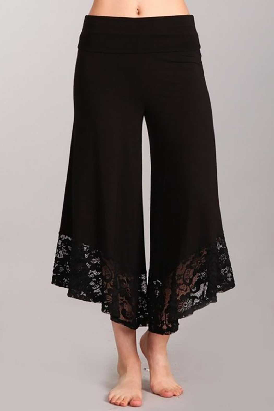 Chatoyant  Gaucho Wide-Leg Pants - Main Image